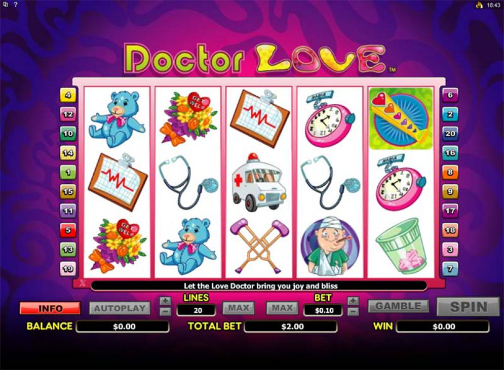 Doctor Love slot Microgaming